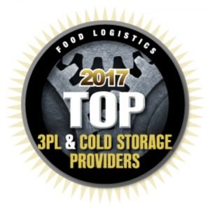 food and beverage logsitics top 3PL award badge
