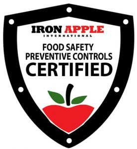 food and beverage logsitics FSMA Iron Apple Certified food safety