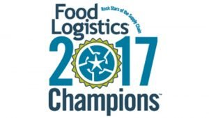 food and beverage supply chain Food Logistics Champion award badge