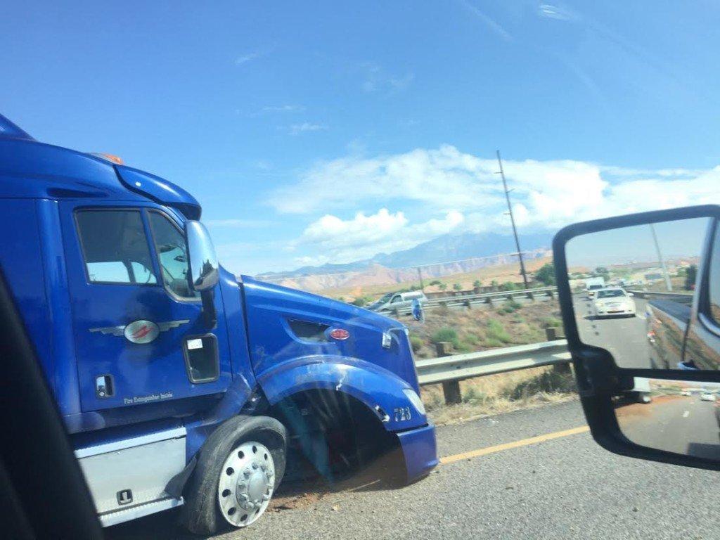 semi-truck-blown-tire-heat