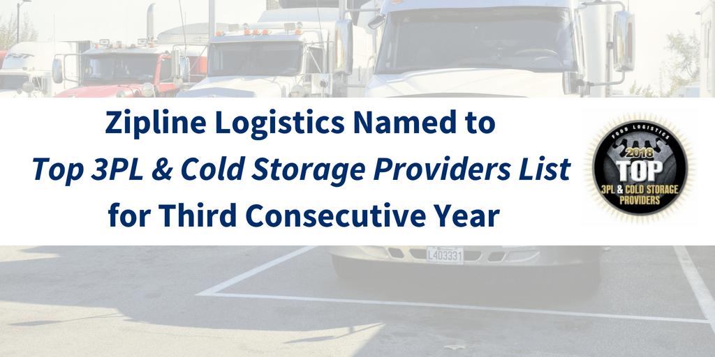 Food Logistics 2018 Top 3PL Provider