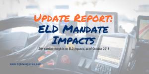 ELD Mandate Trucking Driver Survey Report October 2018