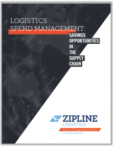 Logistics Spend Management White Paper Cover.