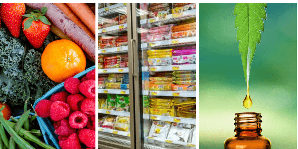 2019 food and beverage trends cbd oil plant-based frozen foods