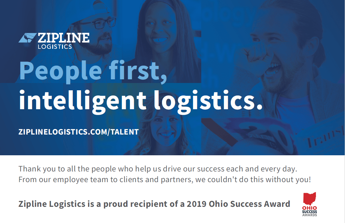 ohio success award 2019 sipline logsitics ad
