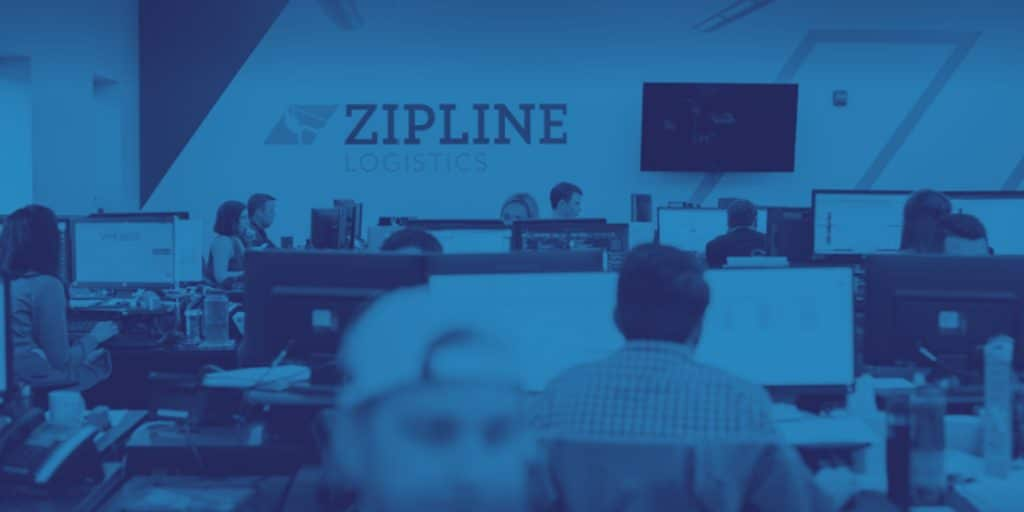 Header for press release - Zipline Logistics Experiences 220% Revenue Growth